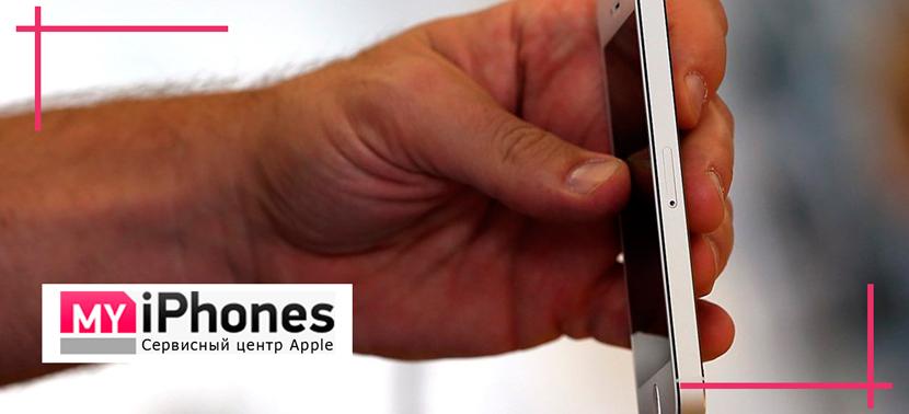 айфон 6 плохо отвлекается на сенсор самым удачным материалом